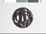 Tsuba with five flying cranes (EAX.10463)