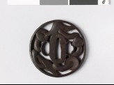 Round tsuba with five mushrooms (EAX.10508)