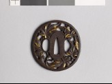 Tsuba with branches and leaves from a maple tree (EAX.10533)