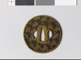 Tsuba with rinzu, or swastika-fret diaper