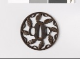 Round tsuba with dew drops and myōga, or ginger shoots (EAX.10611)