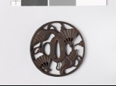 Round tsuba with conch shells and war fans (EAX.10778)