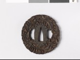 Tsuba with leaves and branching tendrils (EAX.10820)
