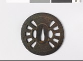 Round tsuba in the form of a wheel (EAX.10844)