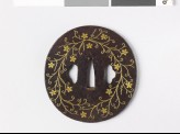 Tsuba with clematis flowers (EAX.10871)