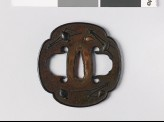 Mokkō-shaped tsuba with pine cones and needles (EAX.10958)