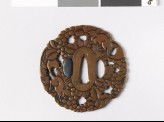 Mokkō-shaped tsuba with vine and squirrels (EAX.10963)