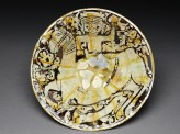 Bowl with a man on horseback