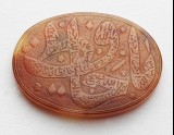 Oval bezel amulet with thuluth inscription and floral decoration (EAX.3302)