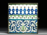 Frieze tile with floral patterns