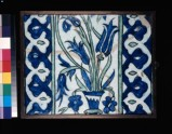 Tile with tulips and vase