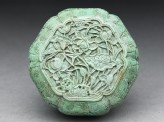Turquoise box with floral design (EAX.5512)