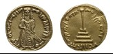 Replica of Islamic Umayyad coin (The Standing Caliph)