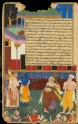 The blind Dhritarashtra attacks the statue of Bhima