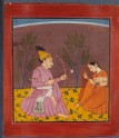 A prince and a lady, illustrating the musical mode Kusuma Raga