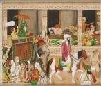Maharaja Ranjit Singh in a bazaar