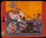 Maharaja Bhupat Pal smoking a hookah