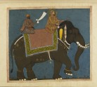 Sultan Muhammad Adil Shah and Ikhlas Khan riding an Elephant