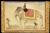 The elephant Ganesh Gaj and rider (front)