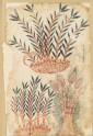 Three bamboo shoots, from a De Materia Medica manuscript