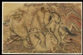 Enraged elephant attacking a horse (front)