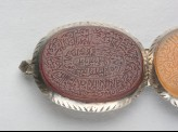 Oval bezel amulet from a bracelet, inscribed with the Throne verse (LI1008.8)