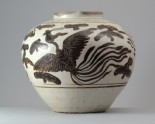 Cizhou type jar with a dragon and phoenix