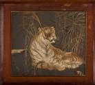 Tiger among reeds