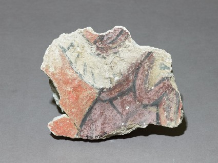 Fragment of a wall painting with figurefront