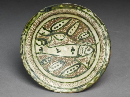 Dish with incised fishtop