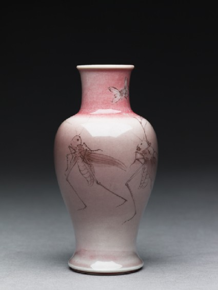 Baluster vase with a procession of insectsside