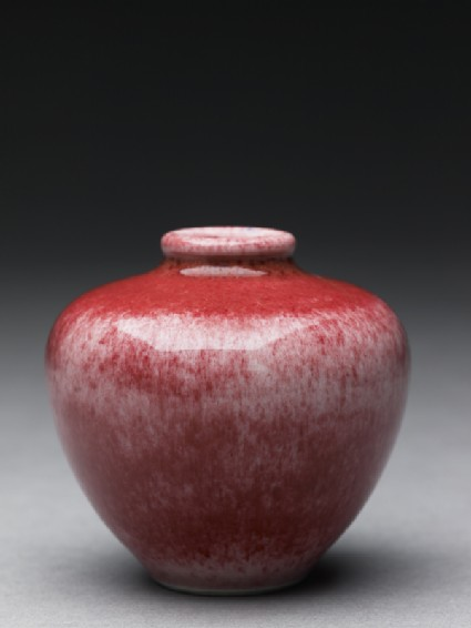 Baluster vase with flattened shouldersside