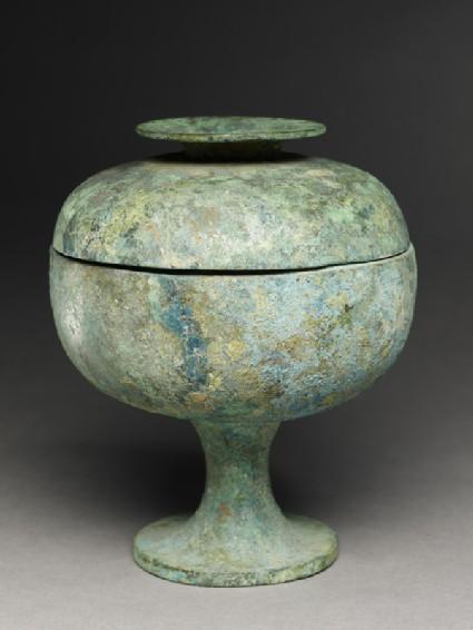 Ritual food vessel, or douoblique