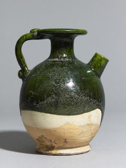 Green-glazed ewerside