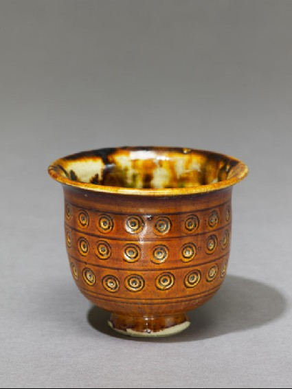 Cup with incised decorationoblique