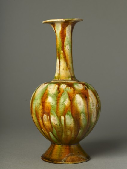 Vase with three-colour glazeside