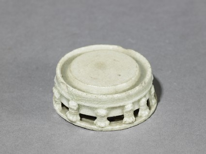 White ware inkstone with taotie masksoblique