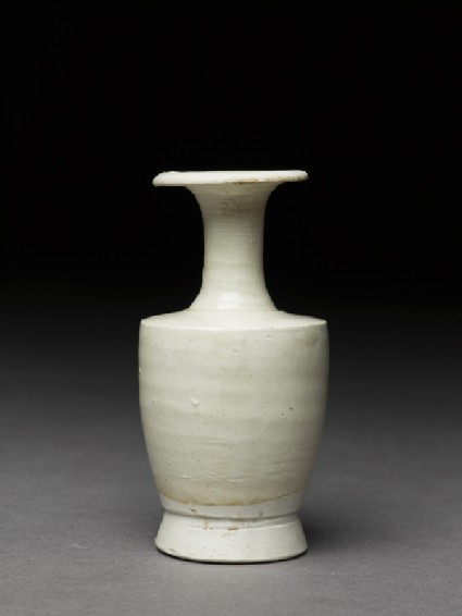 Miniature white ware vaseside