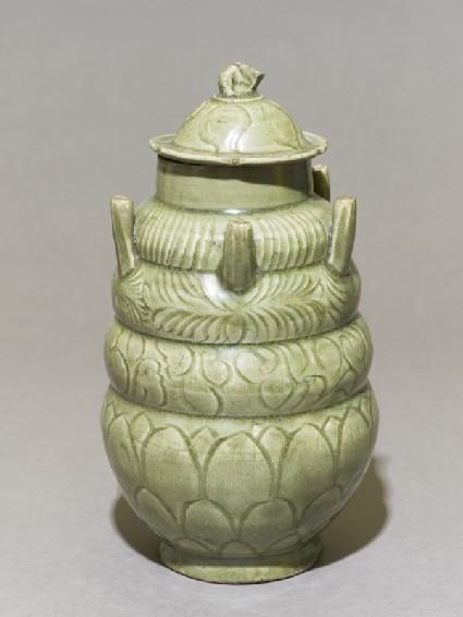 Greenware burial vase with spoutsoblique