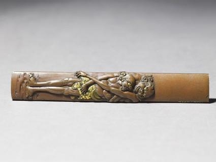 Kozuka, or knife handle, depicting Ashinaga and Tenagafront