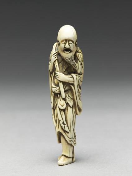 Netsuke in the form of Sennin, a Daoist immortalside