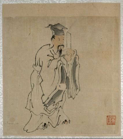 A scholar holding a scepterfront