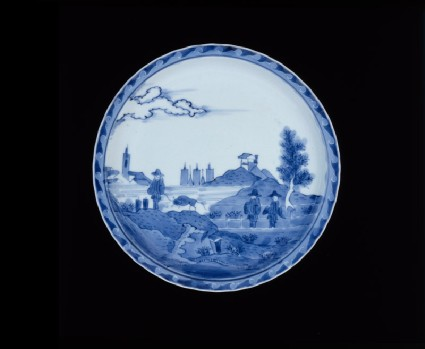 Plate with 'Deshima Island' themetop