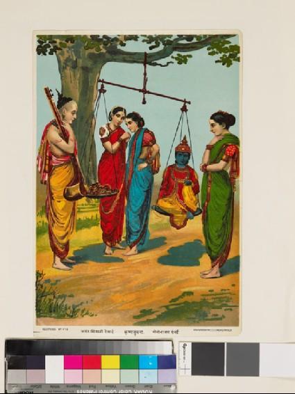 The weighing of Krishnafront