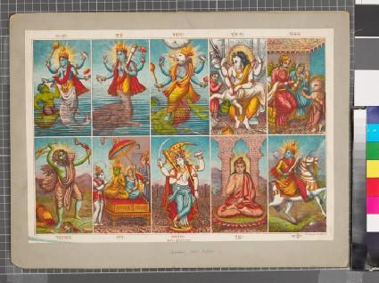 10 avatars of Vishnufront
