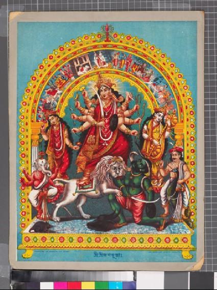 The goddess Durga, or Kali, slaughtering the buffalo demonfront