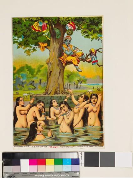 Krishna stealing the gopis' clothesfront