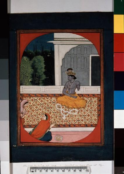 Krishna discards his garlandfront