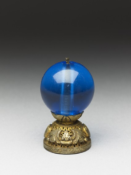 Mandarin hat finial used to indicate the wearer's rankoblique