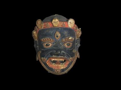 Dance mask representing a guardian deityfront